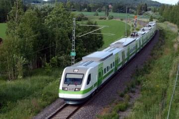 Digitrükk - Soome VR Yhtiö rongide ja vagunite katmine trükitud kleebistega 2