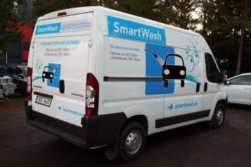 Digitrükk - Firma Smart Wash kaubiku kiletamine trükitud kleebistega