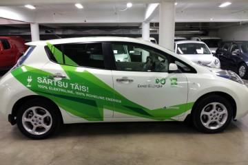 Kleebisreklaamid - Eesti Energia kampaania autode kiletamine