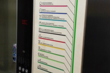 Kleebisreklaamid - Eesti Energia peamaja liftide kleebised