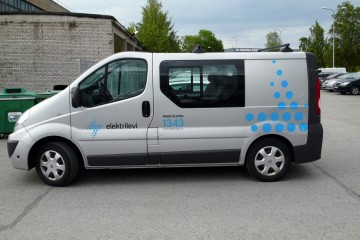 Kleebisreklaamid - Elektrilevi sõidukite kiletamine firmagraafikasse 1