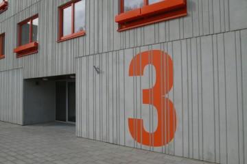 Reklaamsildid - Prokapital City värvitud majanumber 3